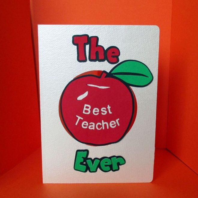 Best Teacher Ever Card Template
